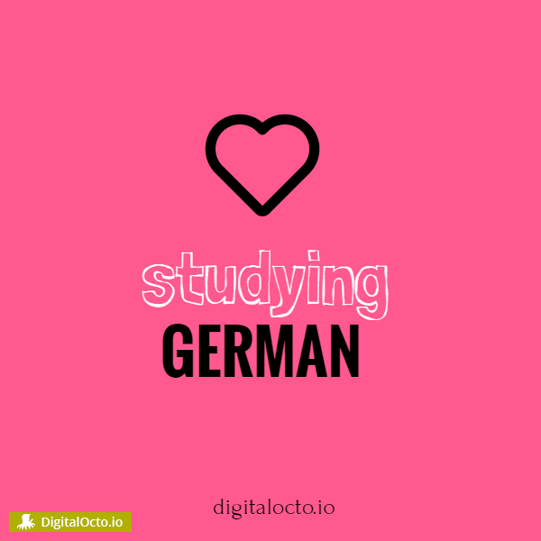 Studying german