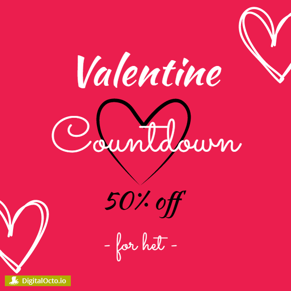 Valentine's Day countdown 50 off