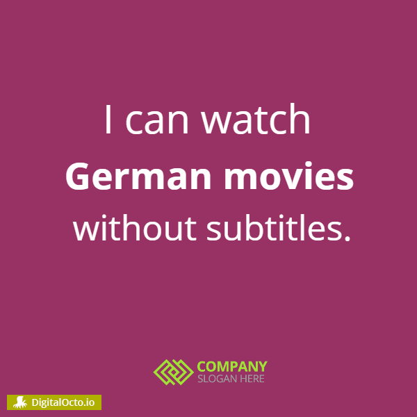 Watch English movie without subtitles