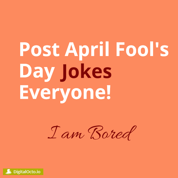 April Fool's Day Joke