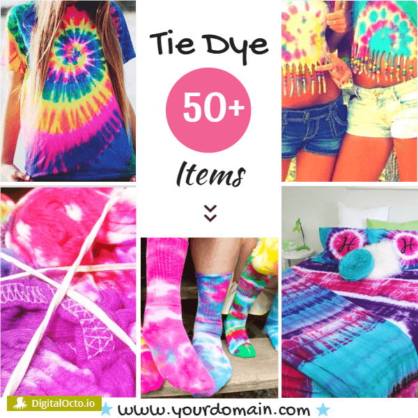 Tie Dye Items Templates For Handmade