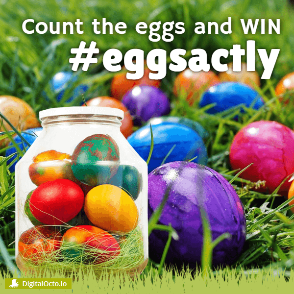 #eggsactly - count the eggs in the jar and win