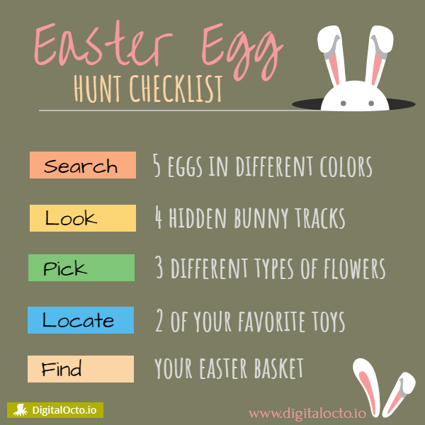 Easter egg – hunt checklist