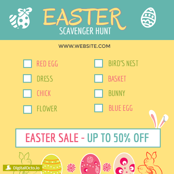 Easter Sale – scavenger hunt