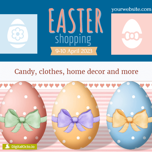 Easter shopping – promotion