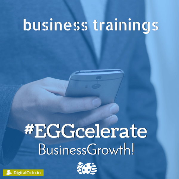 Eggcelerate business growth – easter design for social media