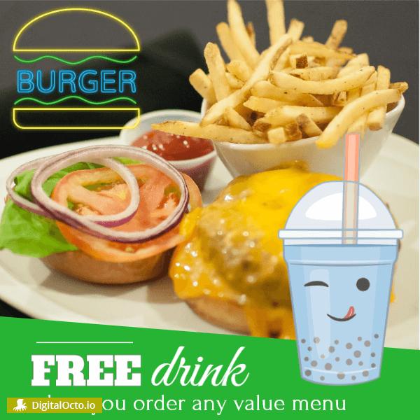 Restaurant – free drink offer