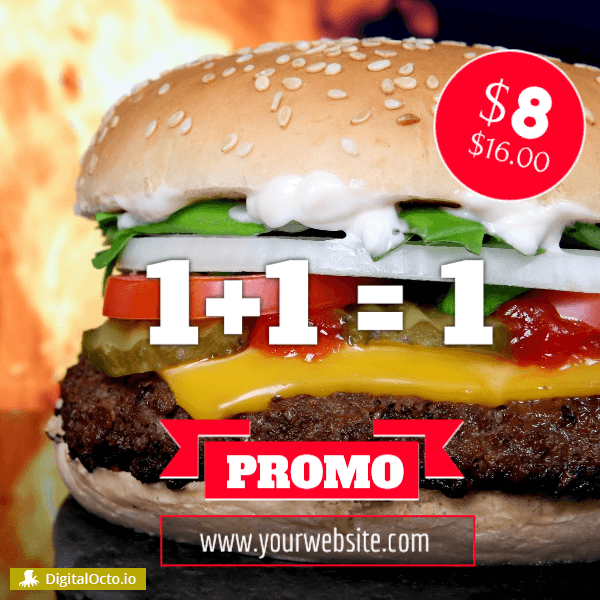 Burger promo - pay one-get two