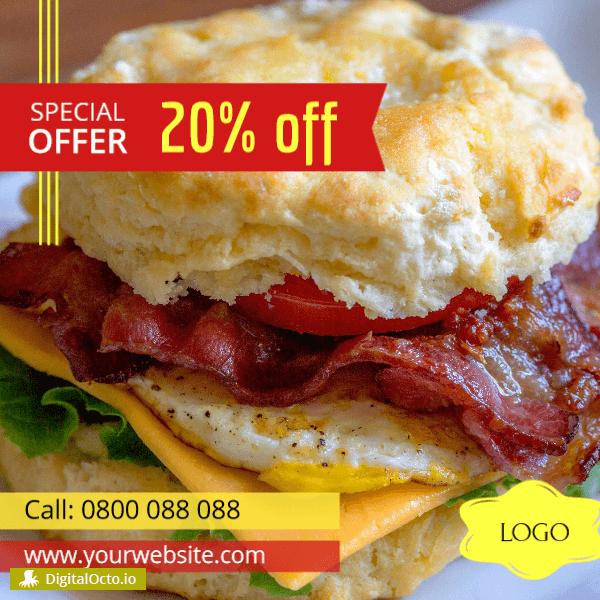 Burgers – 20% discount