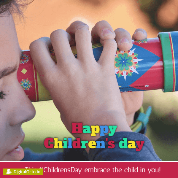 Children's day - embrace the child in you