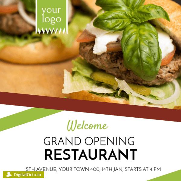Grand opening – restaurant