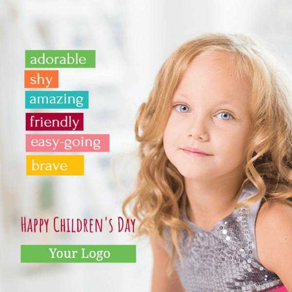 Happy Children's day - children's qualities