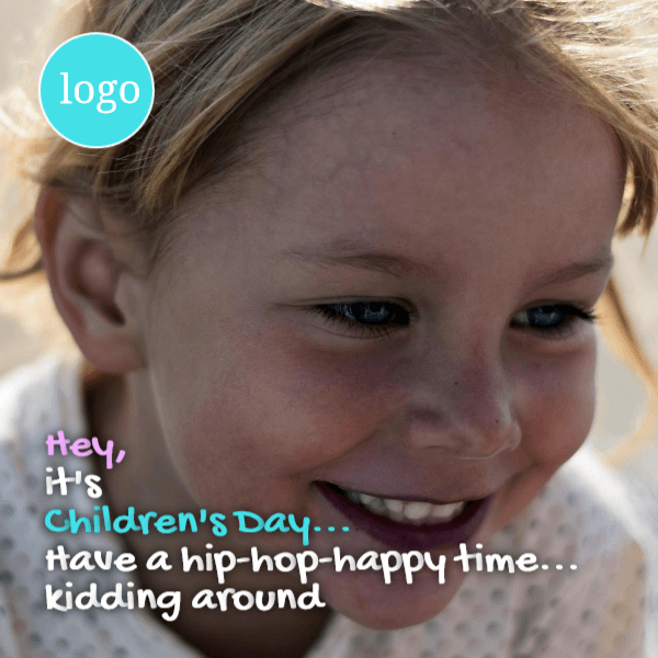 Children's day - have a happy time kidding around