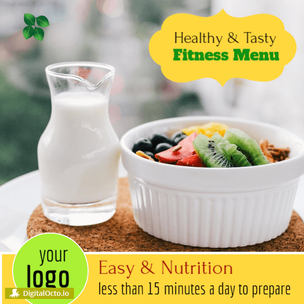 Healthy and tasty fitness menu