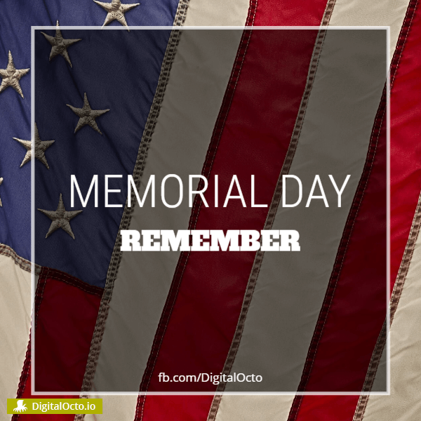 Memorial day – remember