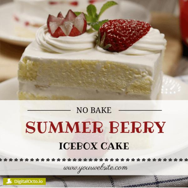 Bakery – summer berry cake