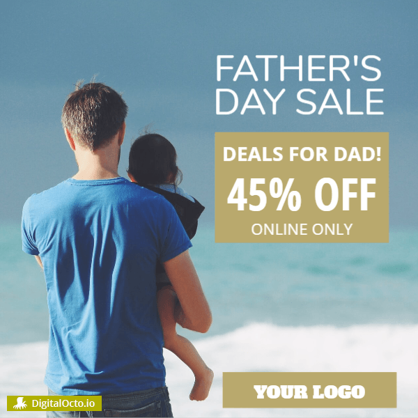 Father's day promotion for Ecommerce