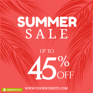 Summer sale - up to 45%