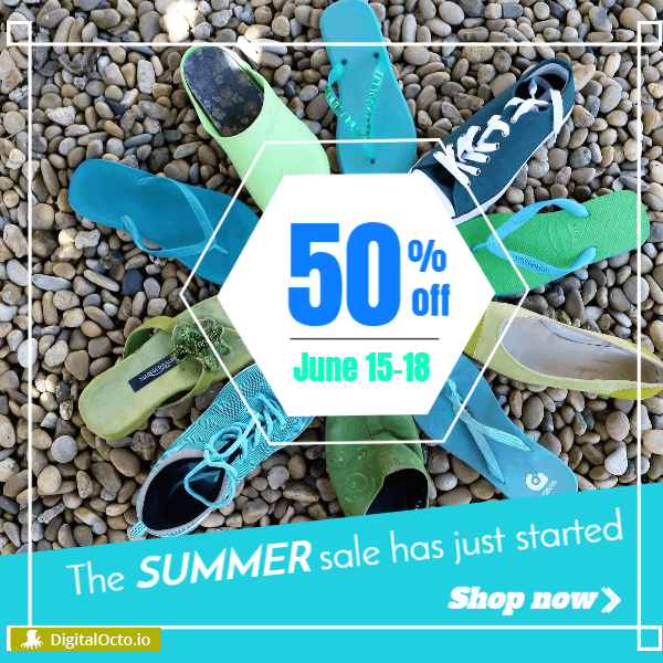 Summer shoes sale started