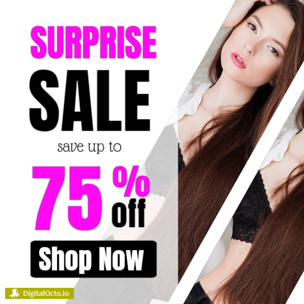 Surprise sale - save up to 75%