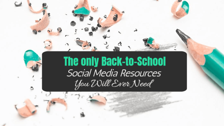 Back to school social media