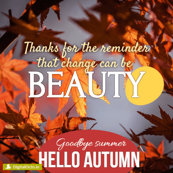 Autumn reminder for the beautiful change