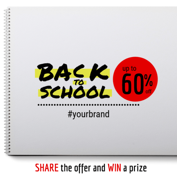 Back to school share and win offer
