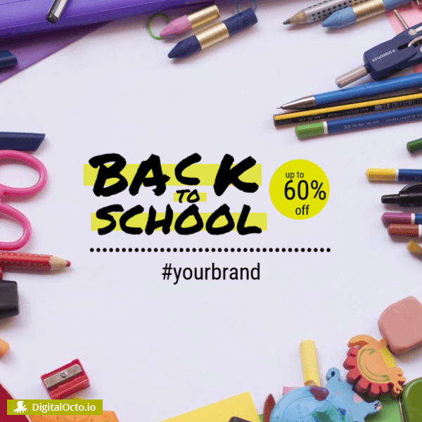 Back to School design template for retailers