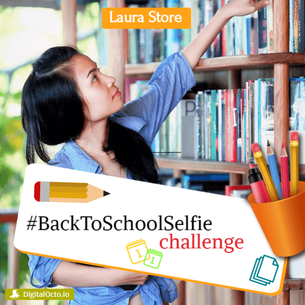 back to school selfie challenge