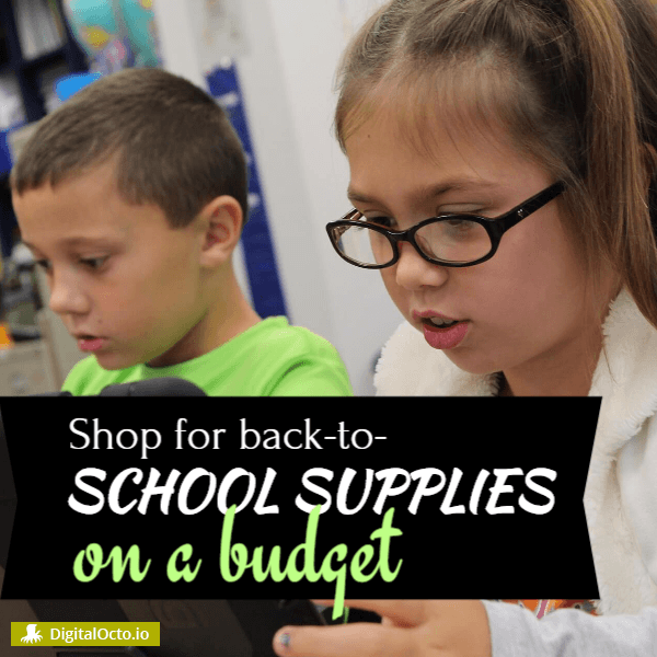 Back to school supplies on a budget