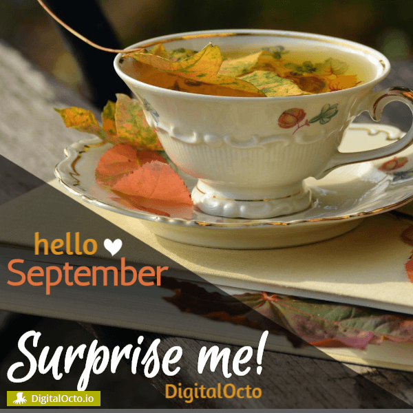 Hello September – surprise me