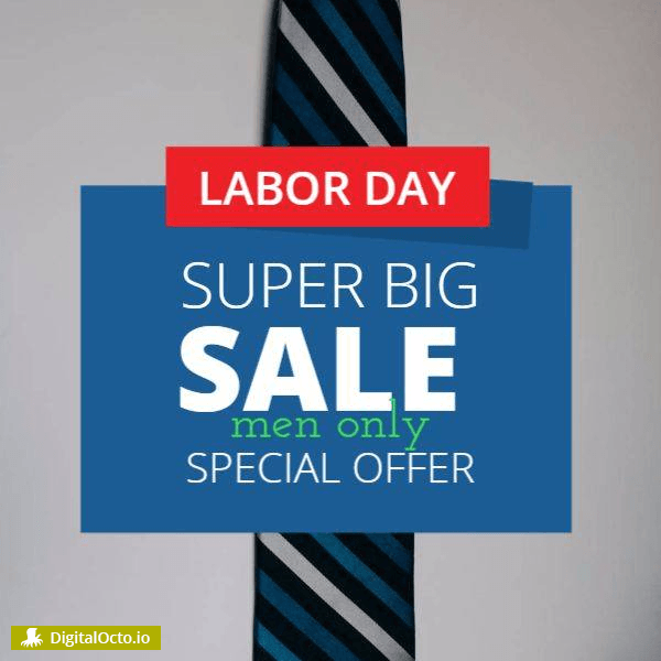 labor day – men only sale
