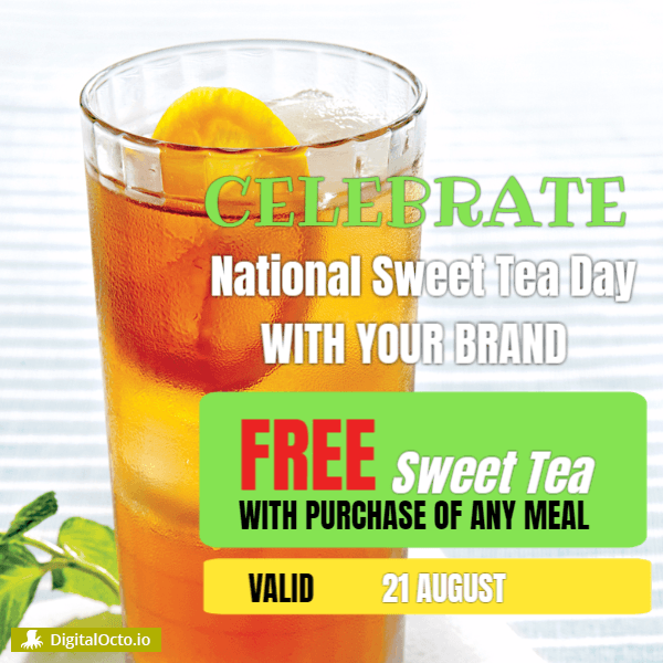 national sweet tea day celebration