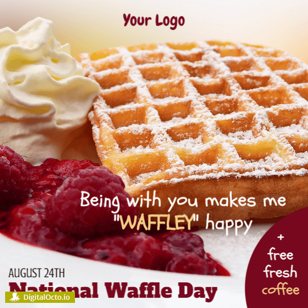 National Waffle Day promotion