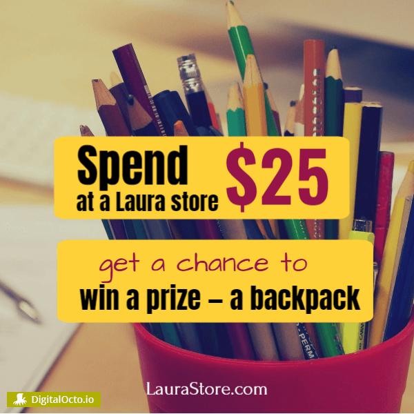 Promotion back to school - spend %25, win a prize