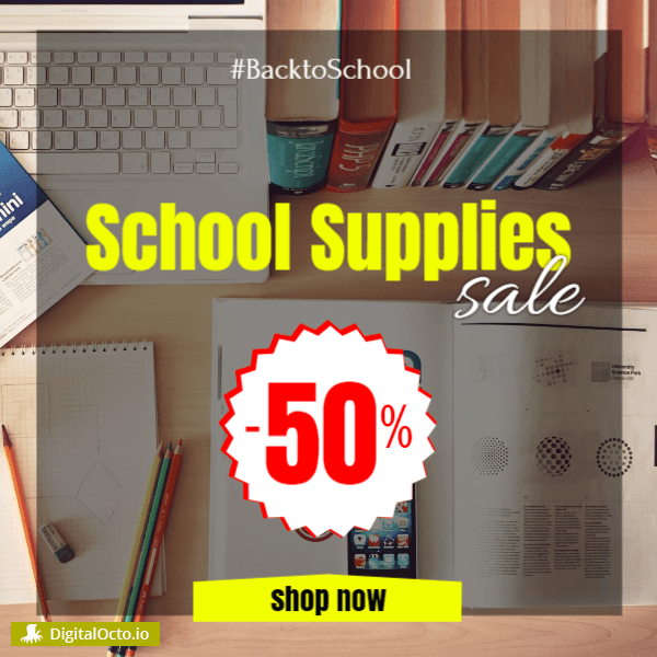 School Supplies Sale