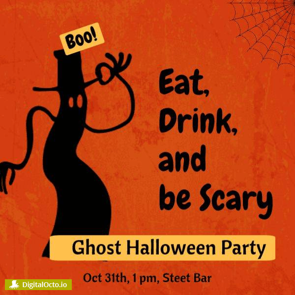 eat, drink, be scary ghost party
