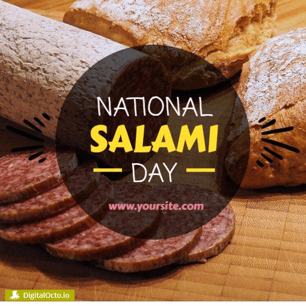 National Salami Day graphic
