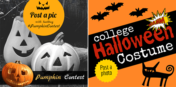 Halloween design for photo contest on social media