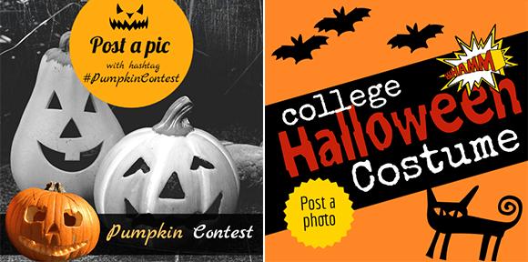 Halloween design for photo contest on social media