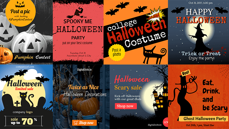 2017 Halloween Social Media Campaign Ideas Doing Halloween The Right Way Editable Graphics Digitalocto