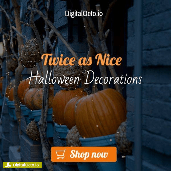 Twice as nice halloween decorations