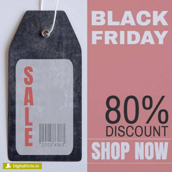 Black friday discount sale label