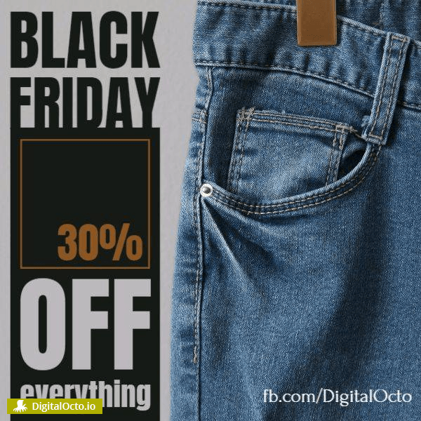 Black Friday jeans promotion