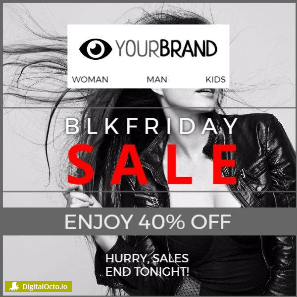 Black friday sale fashion woman
