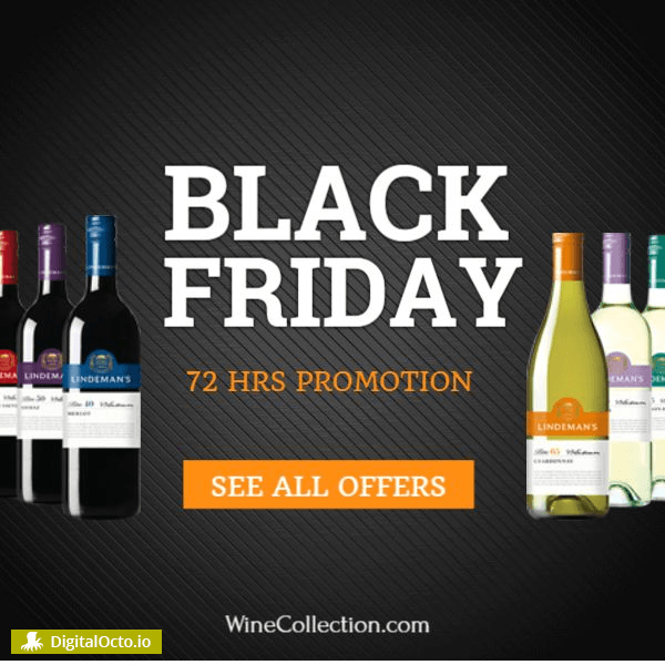 Black Friday wine promotion