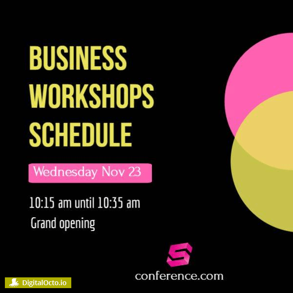 Business workshop schedule