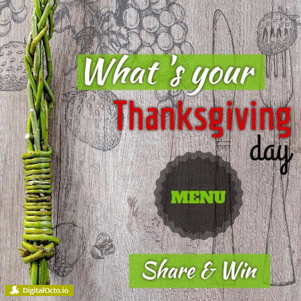 Thanksgiving day menu restaurant