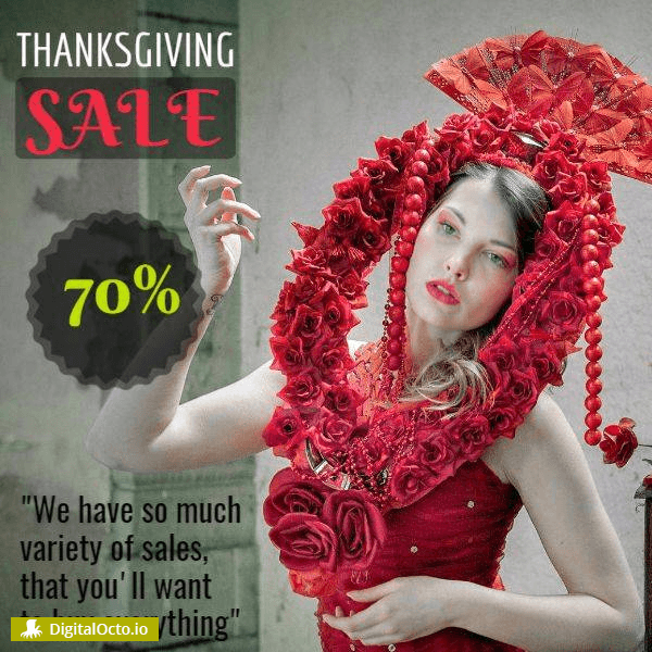 Thanksgiving day sale shop woman