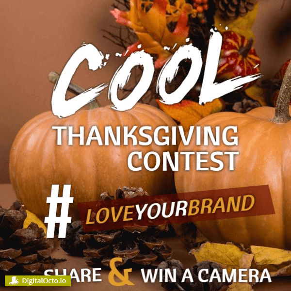 Thanksgiving hashtag contest